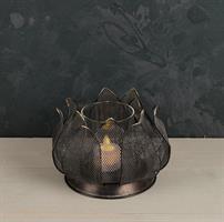 Ljuslykta Lotus, metall