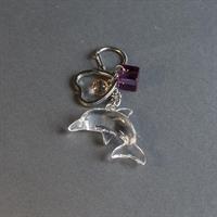 Nyckelring, delfin av akryl