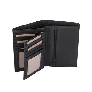 Chesterfield plånbok skinn Svart