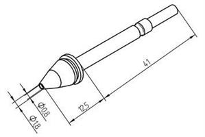 Tip for X-Tool 1,8mm