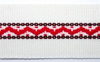 Damebånd - Hvit, rød, brun