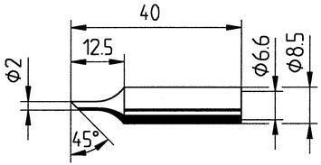 Tip Ersadur 2,0mm Angled face
