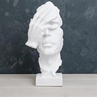 Ansikte, matt vit