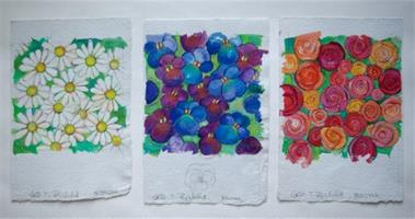 Blomstermotiv, kortillustrasjon