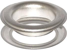 KSPGW,purjerengas, messinkiä, nikkelöity 11,6-12mm, 500kpl /pkt