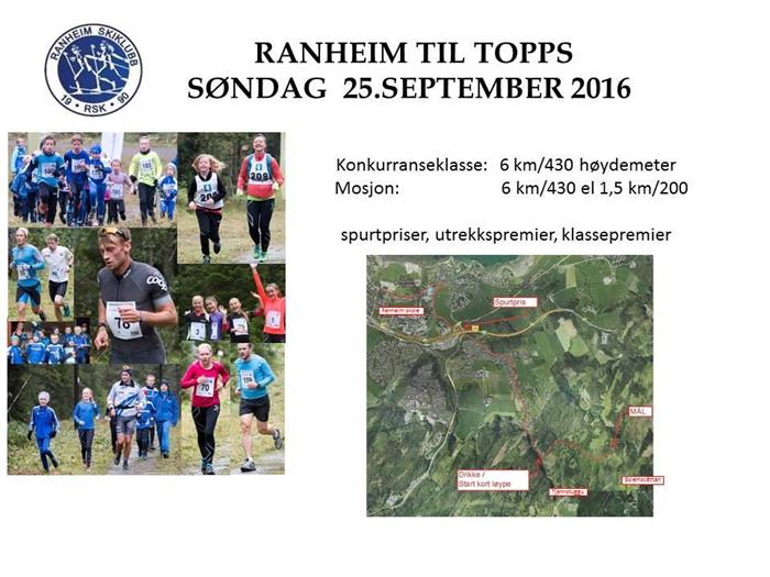 Ranheim til topps søndag 25.september
