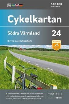Cykelkarta Nr 24 södra Värmland