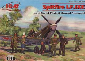 Spitfire LF.IXE with Soviet Pilots and Ground Pers