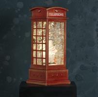 LED telefonkiosk, vattenglob, snögubbe