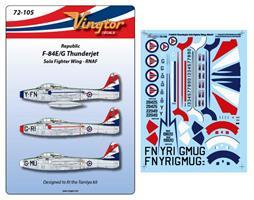 Republic F-84E/G Thunderjet - Sola Fighter Wing, R