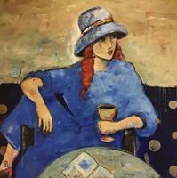 Tone Flesche-Lady in blue