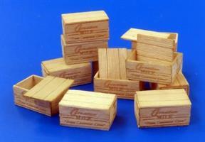 US wooden crates condensed Milk