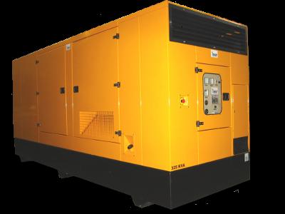 Äänieristetty dieselgeneraattori DVAS410