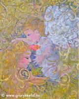 Himmelsk berøring, orginalmaleri