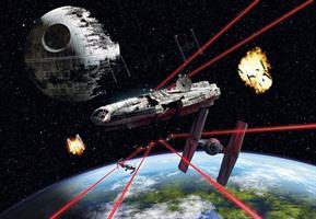 Komar fototapet Star Wars Millennium Falcon