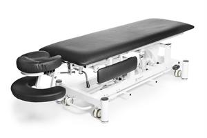 Elektrisk massagebänk Deckams, svart