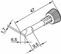 Tip ersadur 6,5mm Chisel