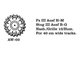 Pz III Ausf H-M, Stug III Ausf B-G, Nash./Grille 1