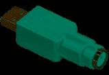 ADAPTER, USB/PS2, MUS ELLER TB