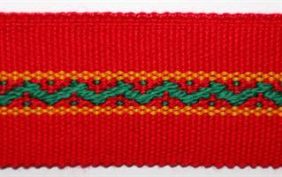 Damebånd - Rød, lys grønn, gul