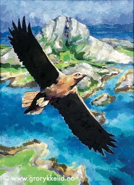 Ørn over Torghatten