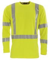 Långärmad T-shirt, flamskydd, varsel cl.3