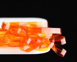 Flat body glas- burnt orange