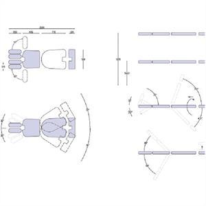 Kiropraktorbänk avancerad, marinblå