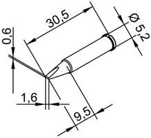 Tip Ersadur 1,6mm Chisel shape