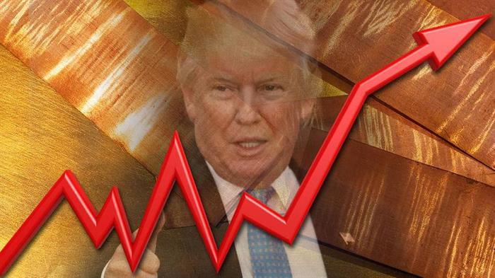 Råvarurallyt hänger på Trump