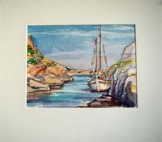 Strandhogg, akvarell