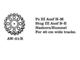 Pz III Ausf H-M, Stug III Ausf B-E, Nashorn/Hummel