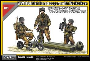 WWII British Paratroopers with Welbikes
