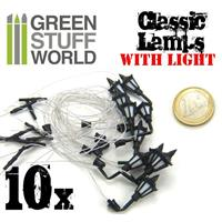 10x Classic WALL Lamps with LED Lights