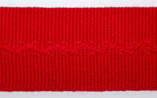 Damebånd - Ensfarget - Rød