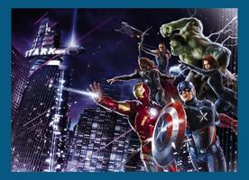 Komar fototapet Avengers Citynight