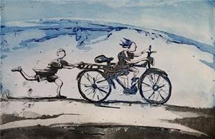 Kristian Finborud-Hun lærte på pappas sykkel