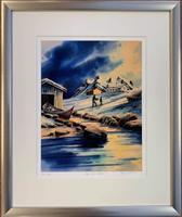 Jarle Hammer-Hjem fra fiske m/ramme