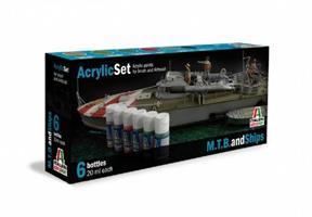 Acrylic Set. 6 stk. M.T.B og skip