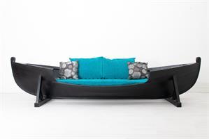 Vene-sohva musta iso
