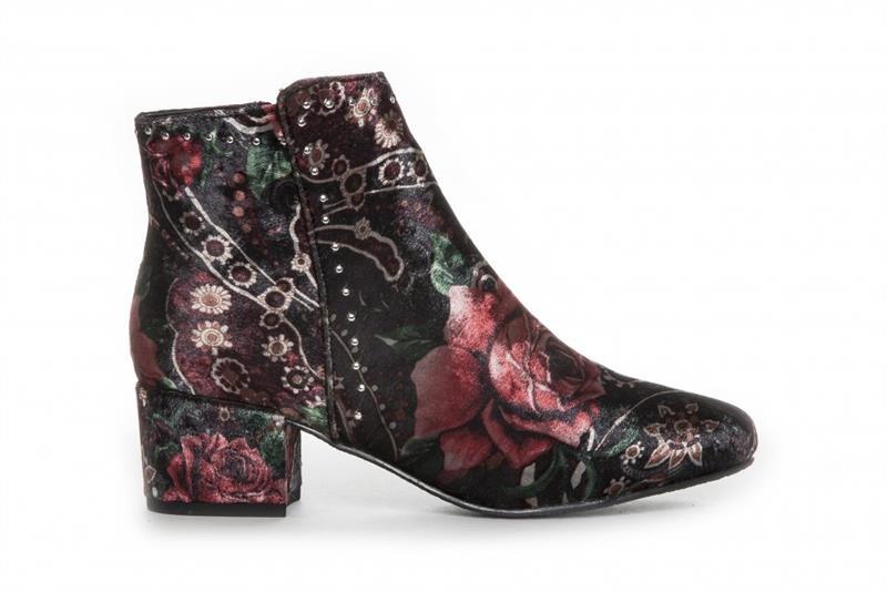 Duffy Boot blommig velvet