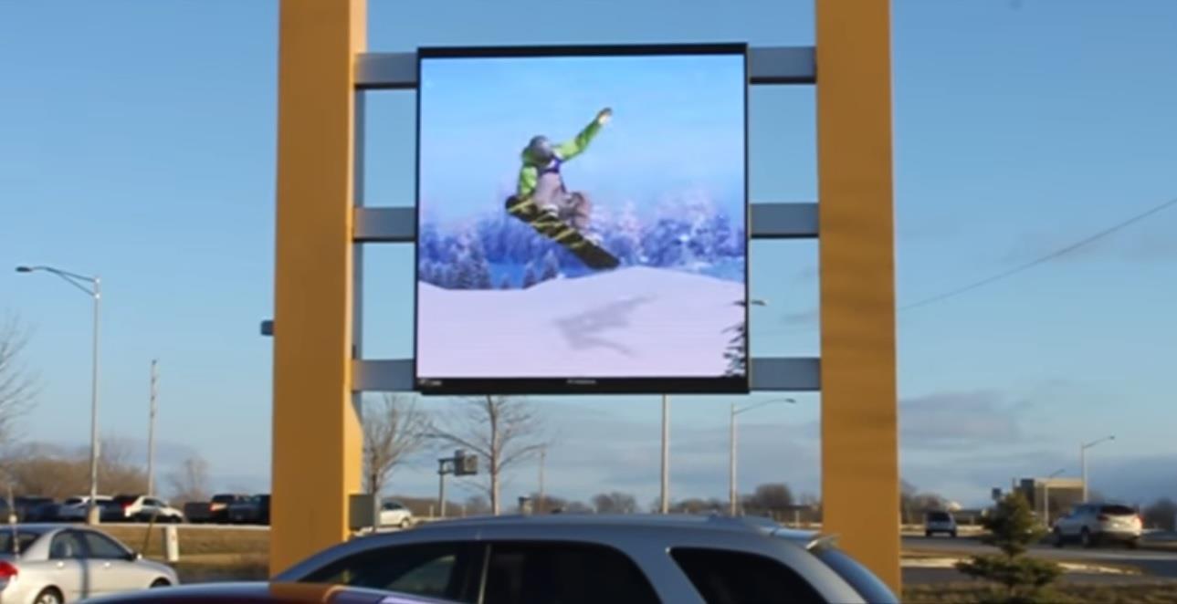 Adaptive utendørs fullfarge display