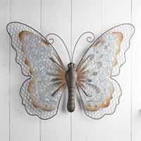 Fjäril, vägg,metall