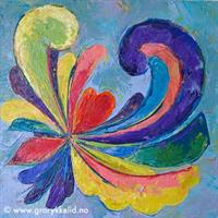 Akrylmaleri, Tradisjonshjerte 5