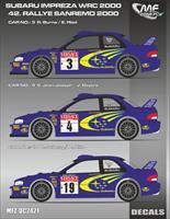 Subaru Impreza Wrc Burns Solberg San Remo 2000