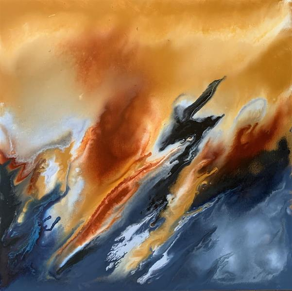 Åse Juul - Flame abstraction