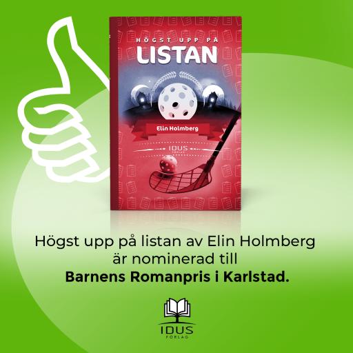 """""""Högst upp på listan"""" nominerad till Barnens Romanpris"""