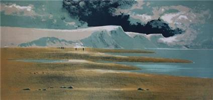 Dagfinn Bakke-Sommervandrere ved havet