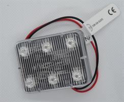 ECCO Varningsljus Blå 6 LED rekt.