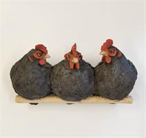Liv Gjellesvik - Høne trio, sort